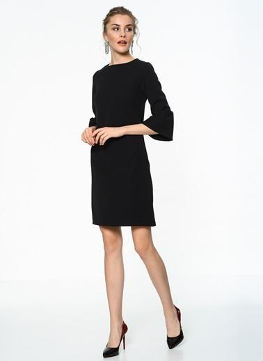 İroni İspanyol Kollu Mini Elbise Siyah